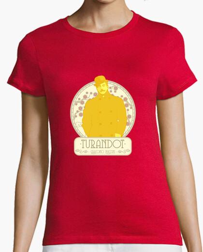 Camiseta Puccini, Mujer, manga corta, roja, calidad premium
