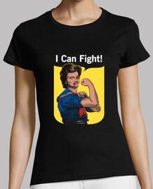 puedo pelear camisa para mujer