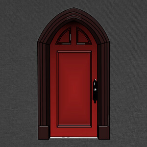 Camisetas Puerta roja de The Haunting of Hill Hou