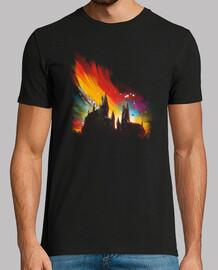 puesta de sol en hogwarts