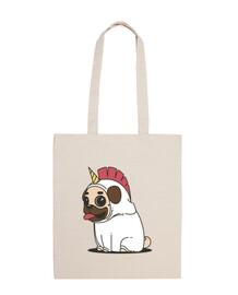pug cane pug bag unicorno