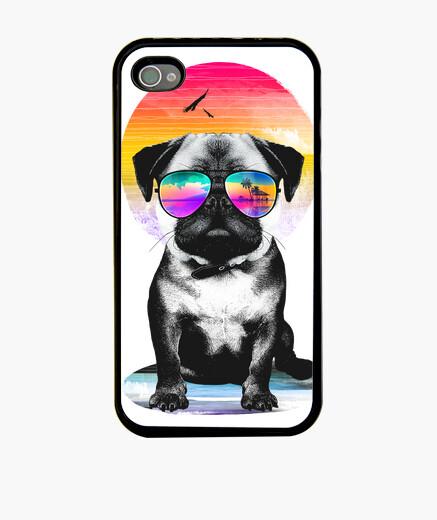 Funda iPhone pug de verano