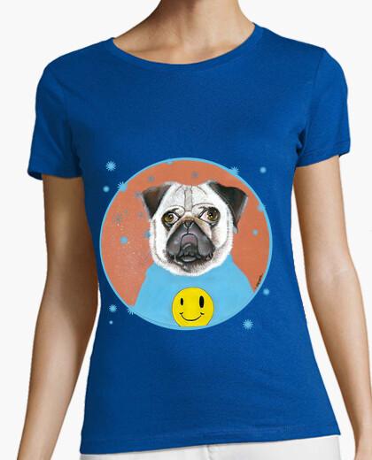 Camiseta pug feliz