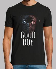 Pug Good boy - buen chico camiseta para los amantes de los perritos pugs