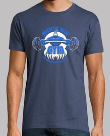puissante gymnase bleu