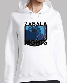 pull blanc de nuits zabala avec