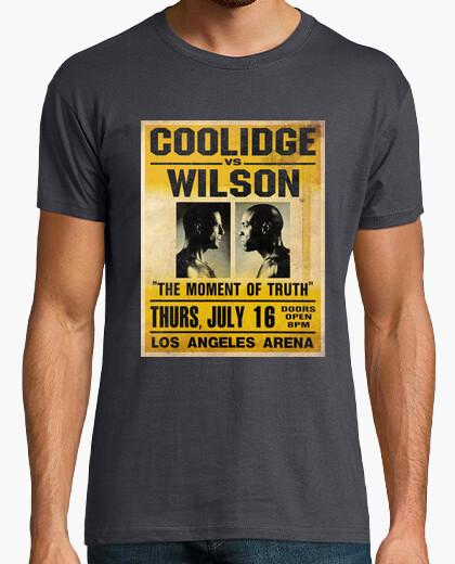 Tee-shirt Pulp Fiction: Coolidge vs. Wilson