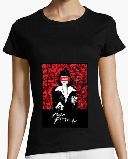 Camiseta Pulp Fiction Drugs Mujer