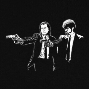 Camisetas Pulp fiction Parodia cine friki