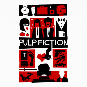 Tee-shirts Pulp Fiction (Saul Bass Style)