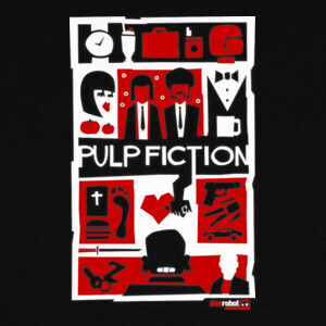 Tee-shirts Pulp Fiction (Saul Bass Style) 2