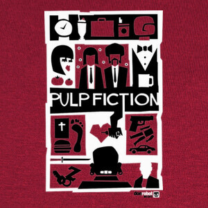 Camisetas Pulp Fiction (Saul Bass Style) 3