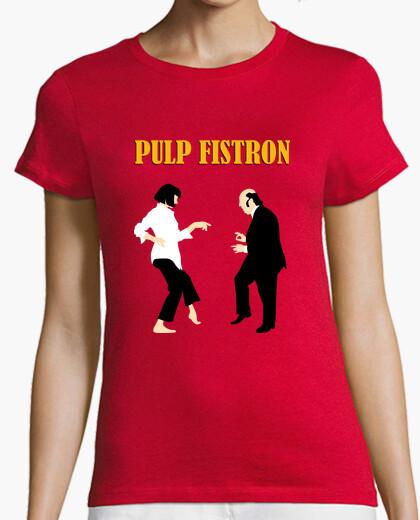 Tee-shirt pulp fistron text, femme