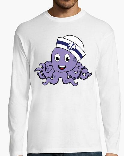 Camiseta Pulpito Marinero - Manga Larga Hombre