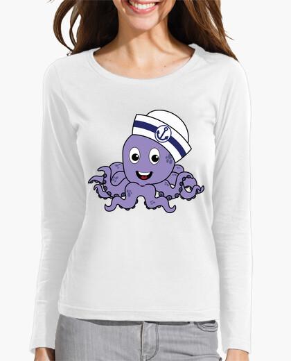Camiseta Pulpito Marinero - Manga Larga Mujer