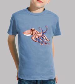 pulpo blaues camiseta kind