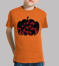 pumpkin share day in black and orange