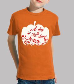 pumpkin share white and orange day