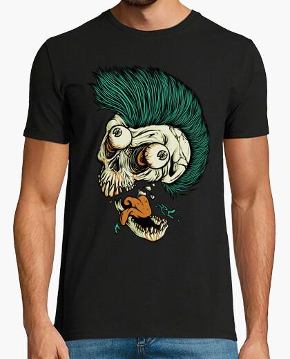 Camiseta punk cráneo