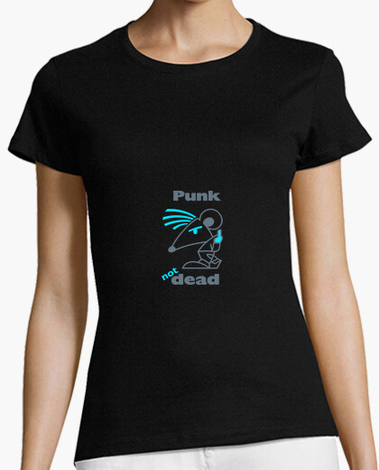 Tee-shirt Punk Not Dead Blue by Stef