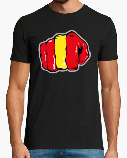 Camiseta Puño Español - Roly 180grm2: Negra