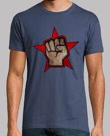 Puño Estrella Roja Piedra