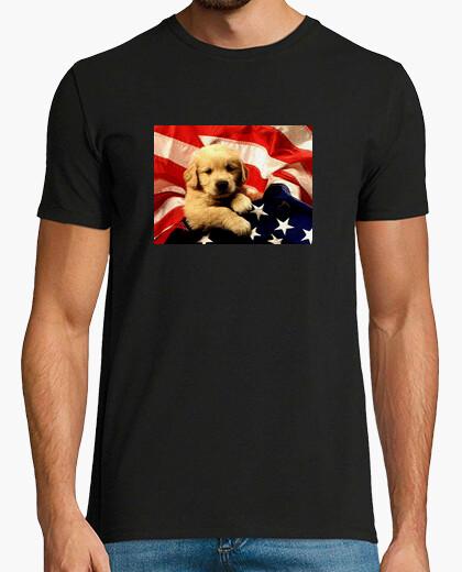 Puppy flag t-shirt