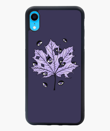 Purple Leaf With Spooky Eyes Gothic Art...