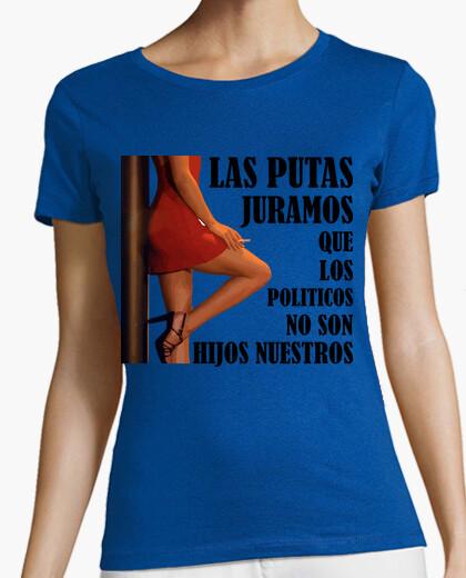 Putas y políticos - Camiseta de chica de tirantes finos