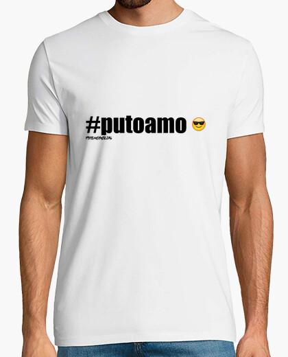 Tee-shirt #putoamo noir - psychosocial