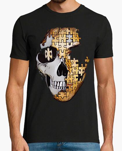 Tee-shirt puzzle de crâne / calaca / crâne / catr