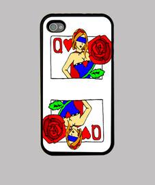 Q de corazones dark toon funda iphone 4