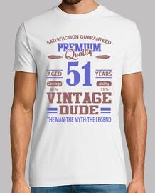 qualité premium âgé de 51 ans vintage d