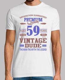 qualité premium âgé de 59 ans vintage d