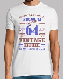qualité premium âgé de 64 ans vintage d