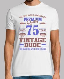 qualité premium âgé de 75 ans vintage m