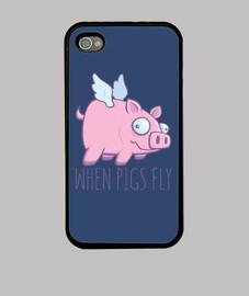 quand les cochons volent avec du texte