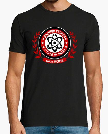 Camiseta Quantum physics f*cked my brain - Red