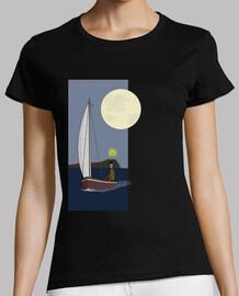 Quaren en velero bajo la luz de la luna