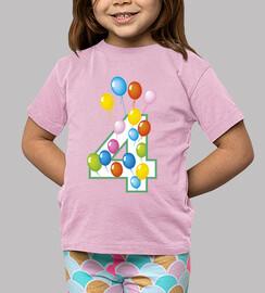 quarto compleanno palloncini