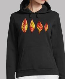 quatre feuilles d39automne rouges et ja