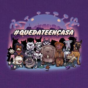 T-shirt QUEDATE EN CASA-PERROS