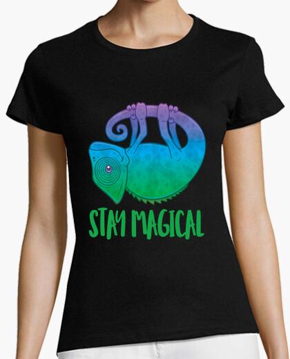 Camiseta quedate magico levitando camaleon