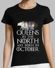 queens in north born in october