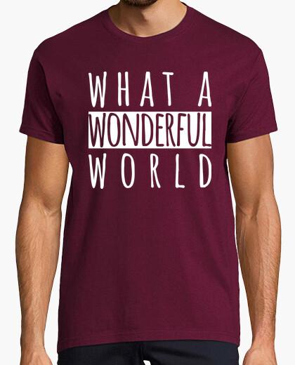Tee-shirt quel monde merveilleux