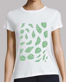 Quercus robur - Diseño hojas roble nieve