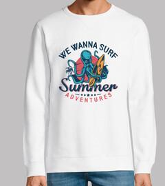 Queremos surfear aventuras de verano