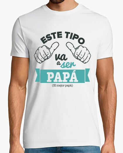 T-shirt questo ragazzo sta andando essere papà (sfondo bianco)