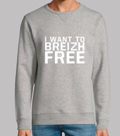 quiero hacer breizh gratis - sudadera ligera hombre