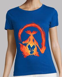 quiero ser un mago de fuego - camisa de la mujer